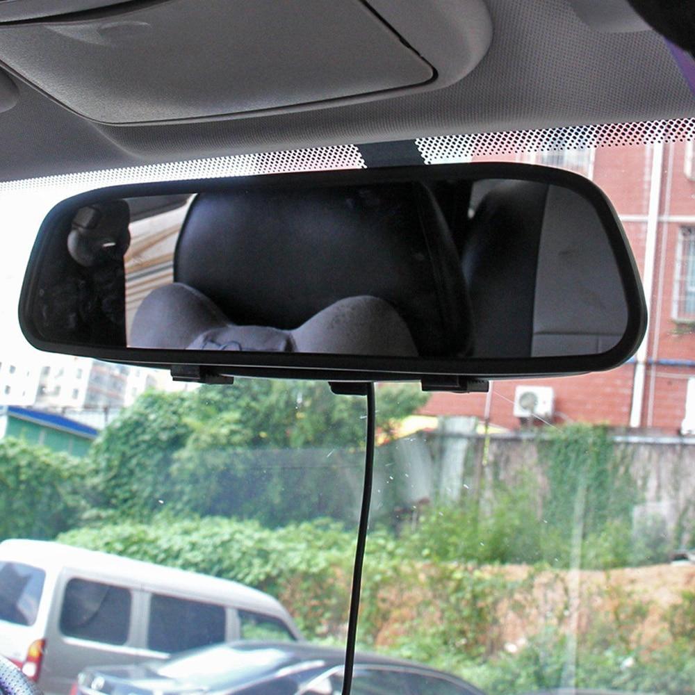 4,3 дюймов HD зеркало заднего вида автомобиля монитор дисплей ЕС Автомобильный номерной знак рамка обратная камера для автомобиля реверсивна...