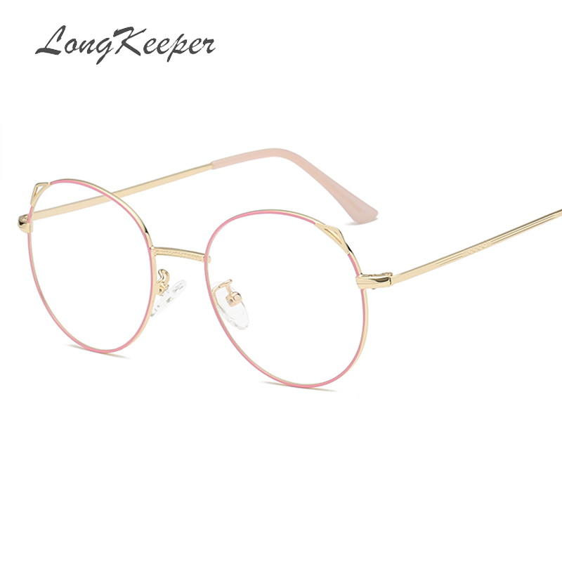 a97703a32a Detail Feedback Questions about 2019 New Designer Woman Glasses Optical Frames  Metal Round Glasses Frame Clear lens Eyeware Black Silver Pink Gold Eye  Glass ...