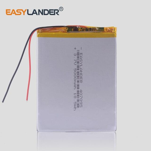 3.7 v 5000 mah (polymer lithium ion battery) li-ion pin cho máy tính bảng pc 7 inch MP3 MP4 [407095] thay thế công suất Cao 357095