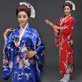 Vestido de Kimono japonés Yukata Mujer Imitación de Seda Tradicional Janpanese Mujeres Robe Asiático Costme Ropa Nacional 18
