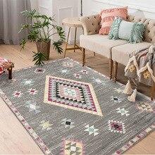 Alfombras bohemias marroquíes para sala de estar dormitorio alfombra gran sofá clásico mesa de centro piso alfombrilla alfombras y alfombras modernas para el hogar