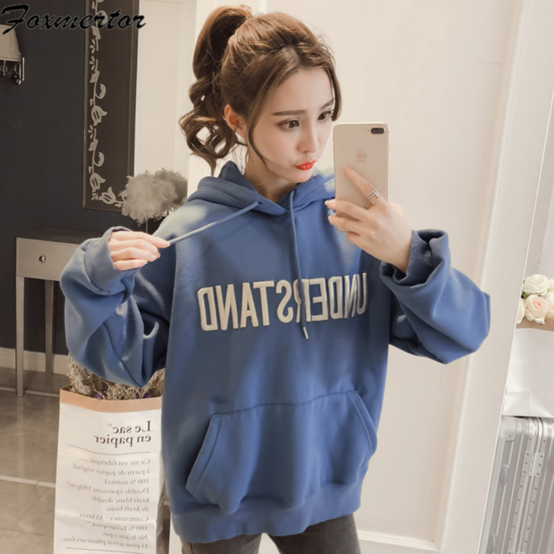Hoodies Women 2019 Female Tracksuits Sportswear Women Long Sleeve Hoodies Harajuku Print Letter Sweatshirts Moletom Feminino 2XL