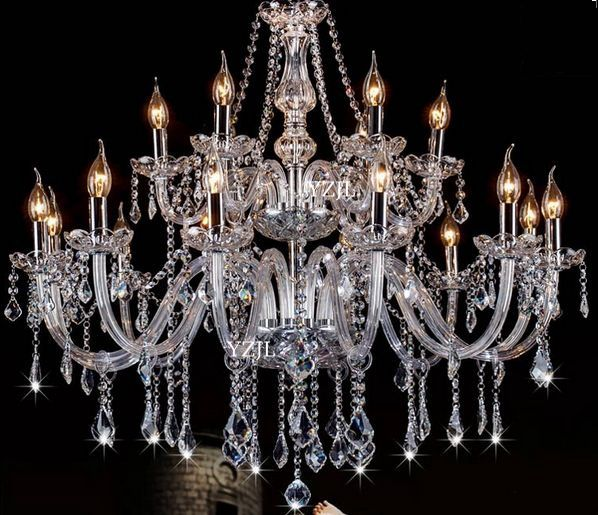 European candle chandeliers crystal light living room restaurant chandelier wedding bar