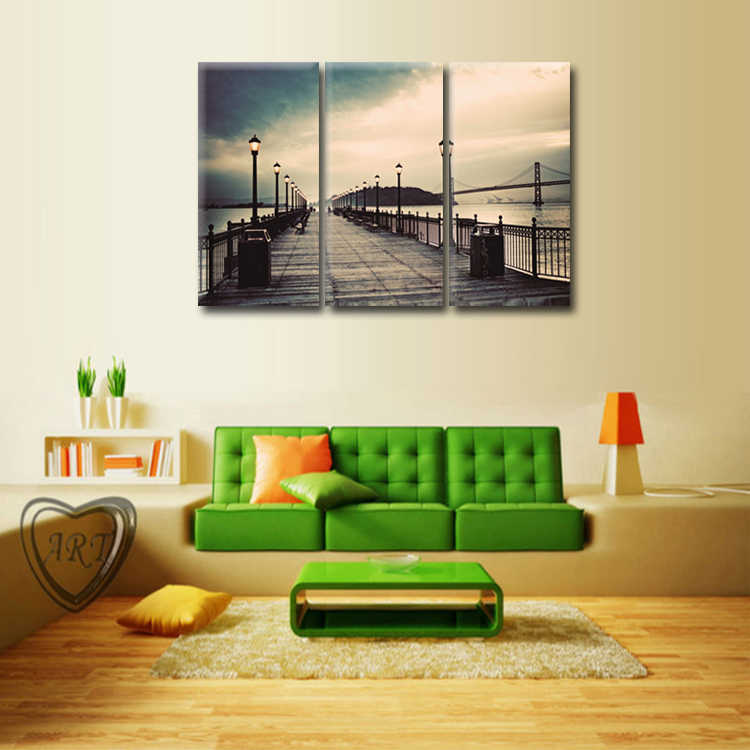 TOP SALE 3 Pcs/Set Artist Canvas Landscape series poster Canvas Prints Wall Pictures for Living Room Picture/Abstract (159)