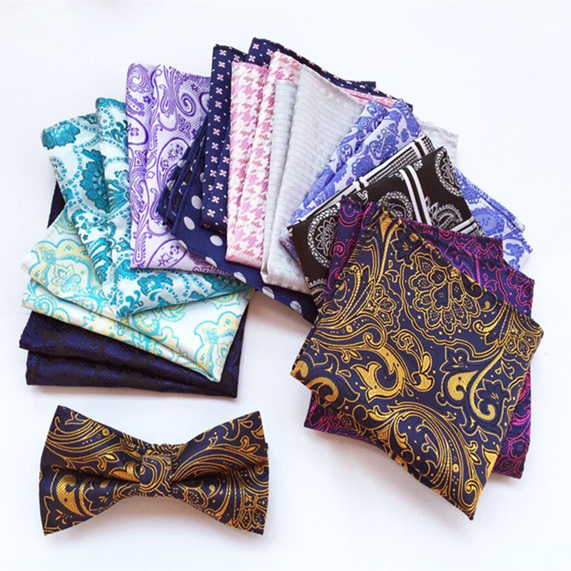 (1 Pieces/lot) 100% Polyester 20 Types Men's Pocket Square Upscale Polyester Fashion Handkerchief