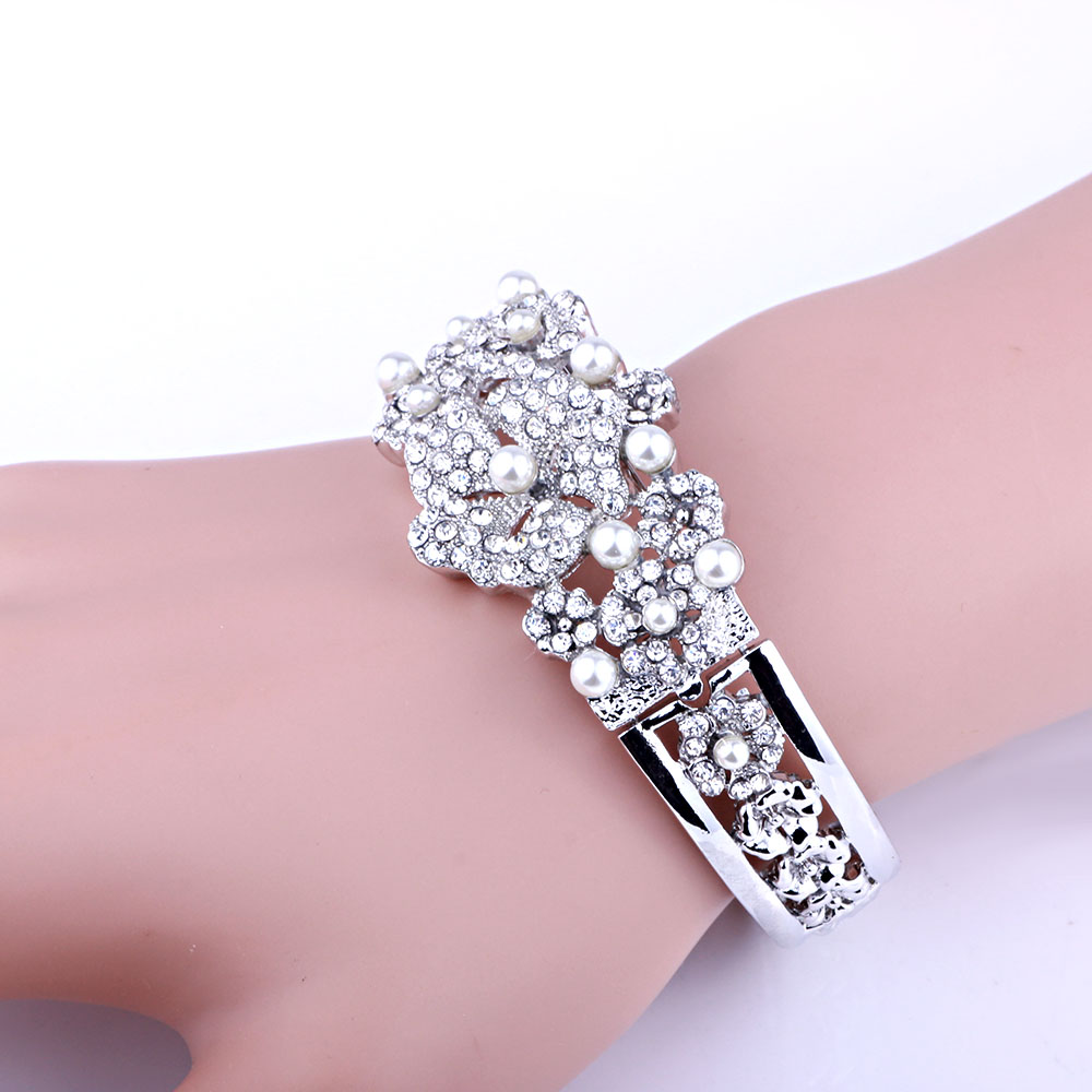 Fashion Bridal Jewelry Crystals Rhinestones Bangles & Bracelets ...