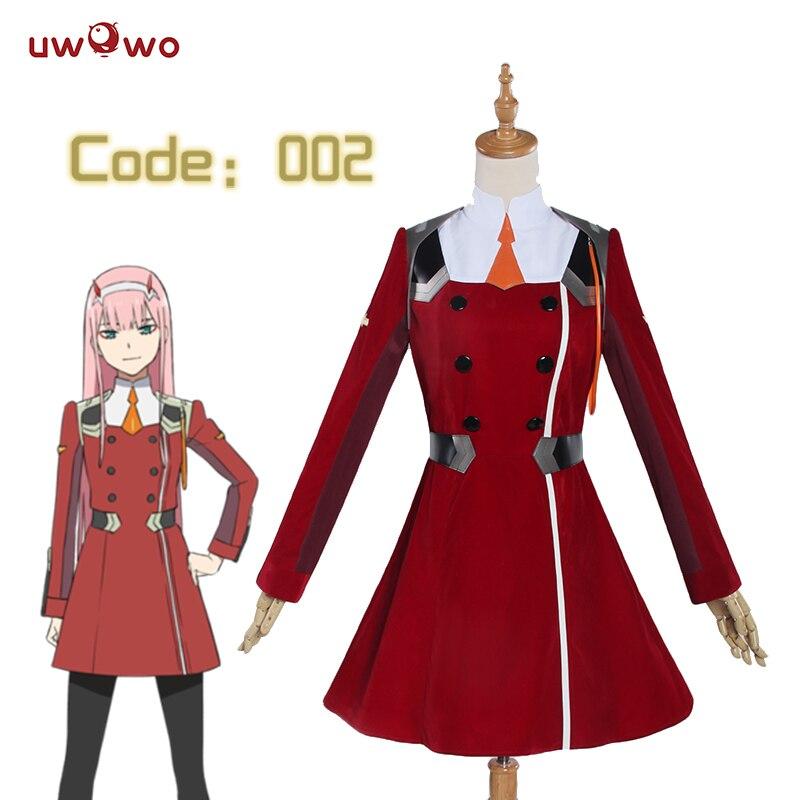 UWOWO Zero Two Cospplay DARLING in the FRANXX Cosplay Costume Anime DARLING in the FRANXX CODE:002 Costume Zero Two