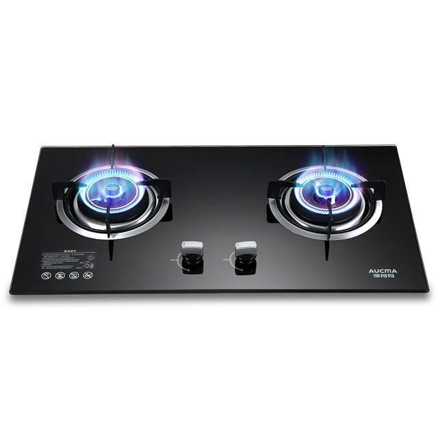 Dual eyes cooktop cooker gas cooktop household cooker large appliance cooking stove for natural gas or bottled gas pressure tank