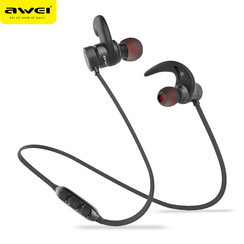 A920BLS AWEI Bluetooth Earphone Nirkabel Headphone Olahraga Bluetooth Headset Headphone Nirkabel Tanpa Kabel Casque 10 h Waktu Musik