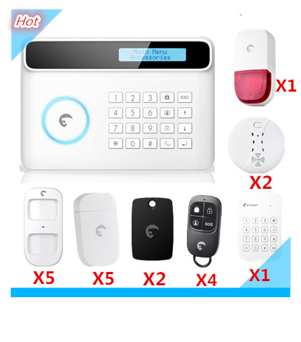 Promotion Price Etiger Wireless PSTN And GSM Alarm System Burglar Security Home Alarm System with Strobe Flash Siren чехлы для планшетов cross case чехол el для lenovo tab 3 8703x 8 0 plu
