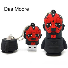 USB Flash Drive 64G Star Wars Pen 32GB Pendrive 16GB R2D2 Darth Vinda 8GB 4GB Maul Bounty Hunter USB2.0 Memory Stick