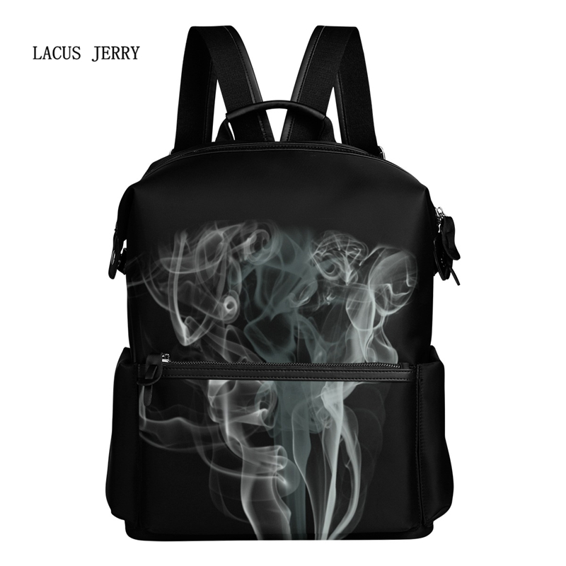 ФОТО 2017 New Cool Personality 3D Smoke-Filled Men's Casual Large-Capacity Backpack Students Bag Fashion Simple Free Shipping