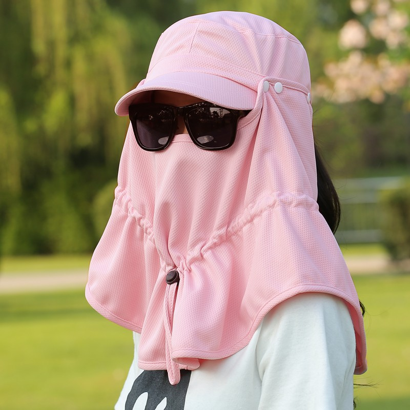 360 sun hat covering her face visor sun hat female summer outdoor baseball  men ride neck UV protection-in Baseball Caps from Apparel Accessories on ... 8a0fccff12e