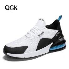 QGK Männlichen Mode Casual Schuhe Turnschuhe Männer Schuhe Chaussures Gießen Hommes Atmungsaktiv Hohe Qualität Erwachsene Turnschuhe Große Größe 36 46