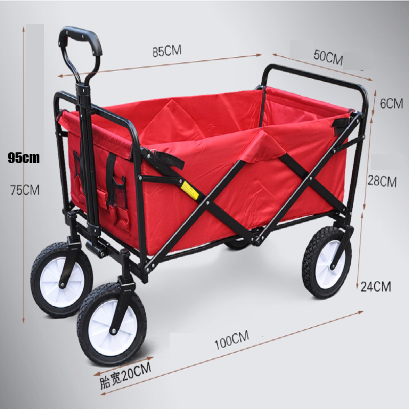 4 wheels outdoor camp cart, fold portable shopping cart, baby carriage with seat belt Lahore