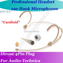 MICWL T65 Cardioid-Directivity Comfortable Headset Microphone for Audio-Technica Wireless Hirose 4Pin connector