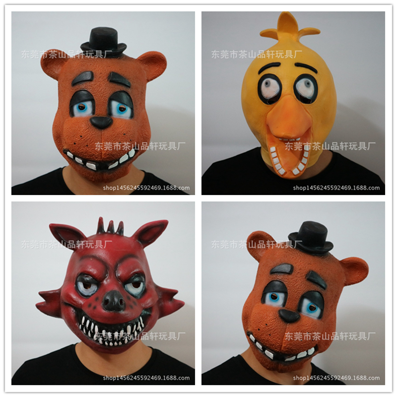3 стиль Хэллоуин Косплэй Five nights at Freddys маска FNAF Foxy Чика Freddy Fazbear медведь маска подарок для малыш Бесплатная доставка