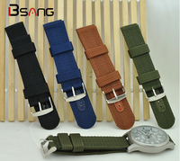 N High Quality Nylon Canvas Waterproof Watch 18MM 20MM 22MM 24MM Sports Male Strap With Knitted