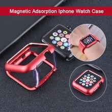 Металлический Чехол JANSIN для Apple Watch series 4 44 мм 40 мм 42 мм 38 мм для iwatch 3 2 1 защитная рамка с магнитной адсорбцией