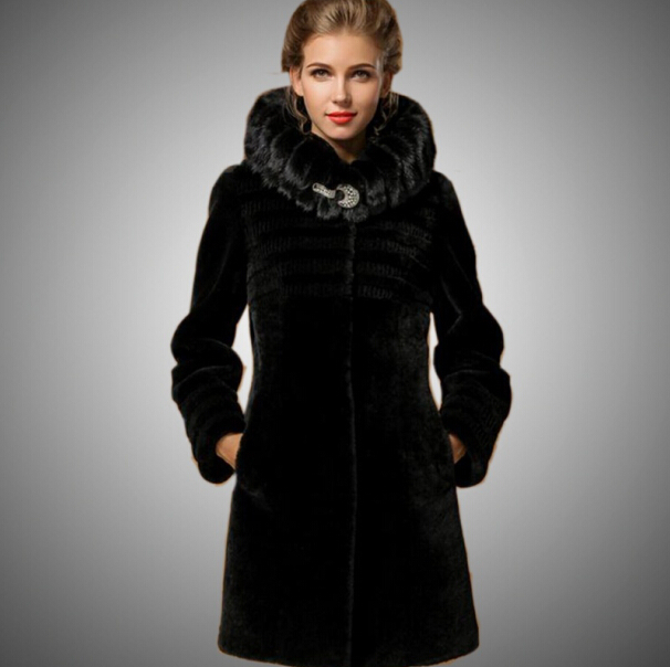 2014 Warm Luxury Fur Coats For women 100% natural fur Coat Sheep ...