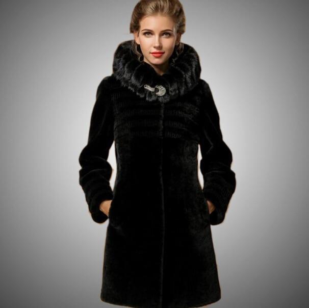 2014 Warm Luxury Fur Coats For women 100% natural fur Coat Sheep ...