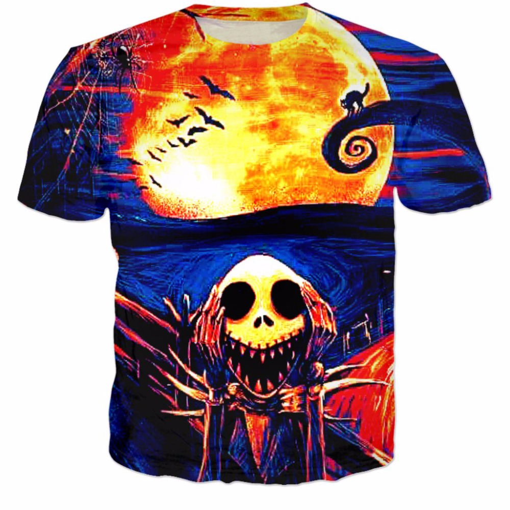 Nightmare Before Christmas T shirt Women Men tshirt Summer Outfits ...