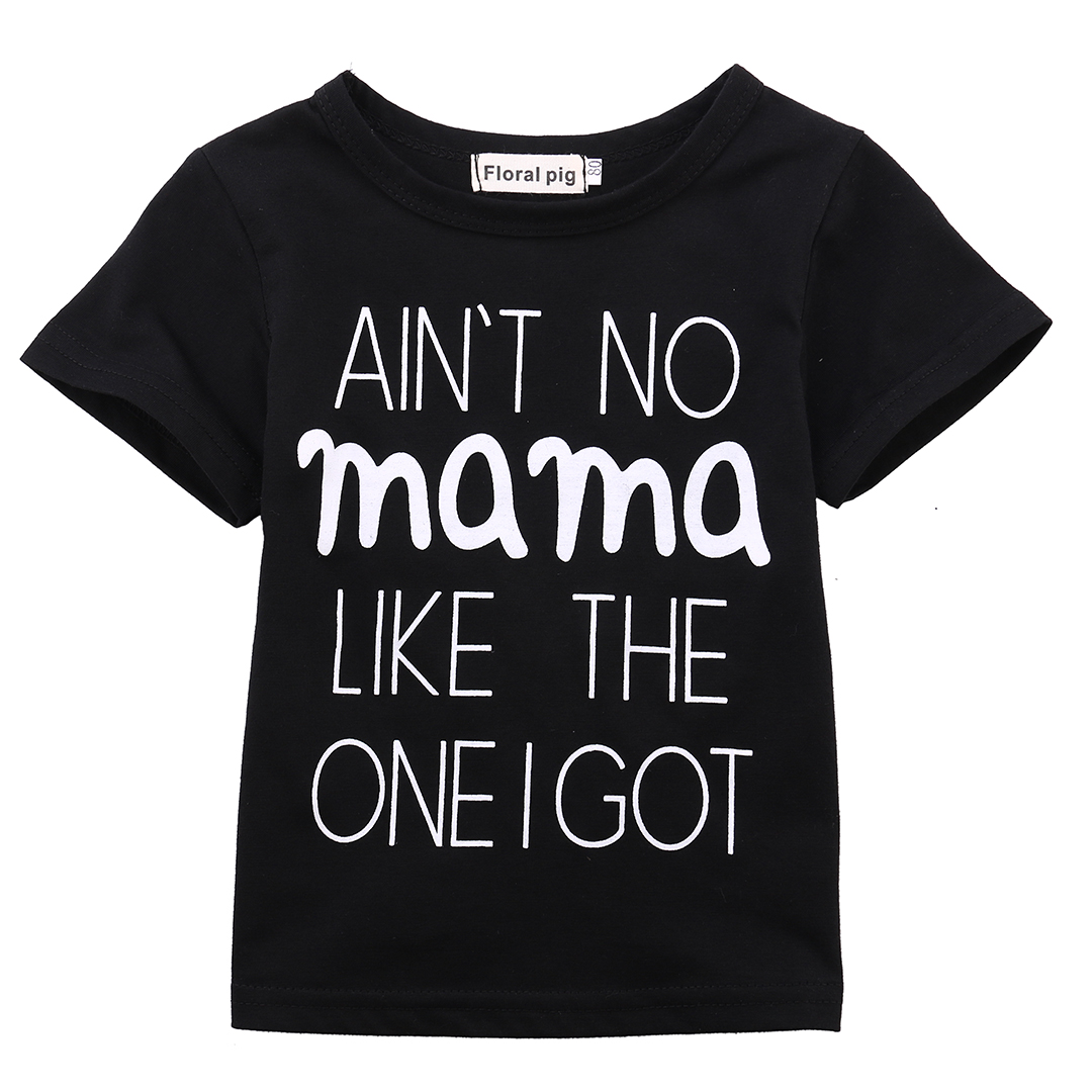 Helen115 Cute Baby Boys Girls Summer With Letter Short Sleeve O neck Cotton T-shirt 0-24M