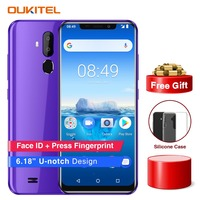 "Oukitel C12 Pro Smartphone 4G 6.18"" 19:9 Android 8.1 Face ID 2GB RAM 16GB ROM 3300mAh MT6739 Quad Core Fingerprint Mobile Phone