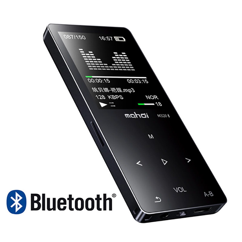 New metal bluetooth mp3 player 8gb built-in speaker fm radio e-book voice recorder portable audio sport flac music Video Player(China)