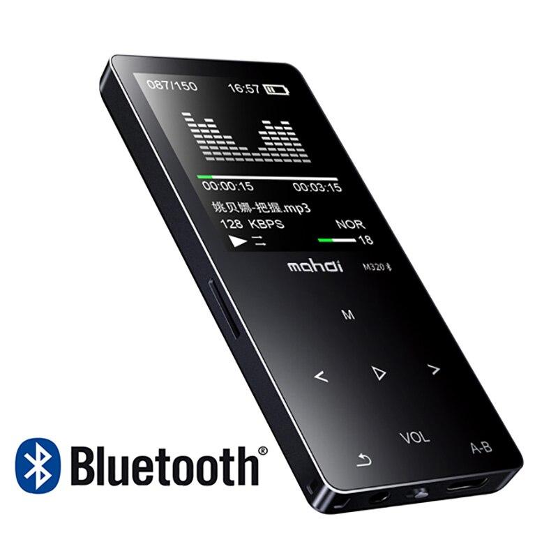 New Metal Bluetooth Sport MP3 Lecteur Portable Audio 8 gb avec Haut-Parleur Intégré FM Radio APE Flac Lecteur de Musique