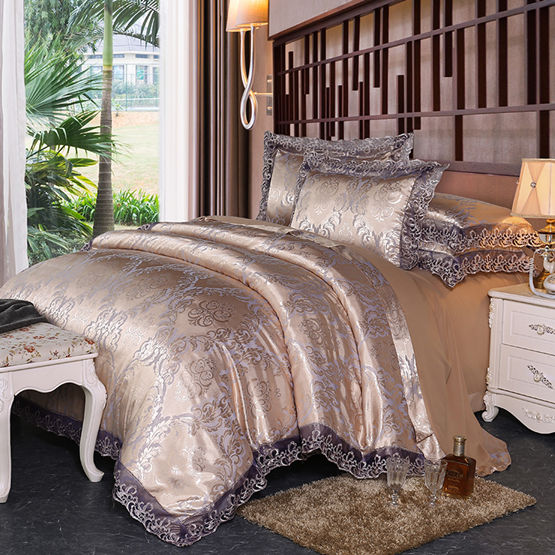 Luxury Embroidery Bedding Set bedclothes bed linen/sheet set Queen/King Size Home textile