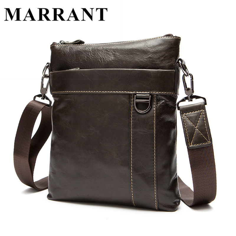 ФОТО MARRANT Men Bags Genuine Leather Fashion Men's Messenger Bags Male Real Leather Business Bag Men Crossbody Handbags 9010