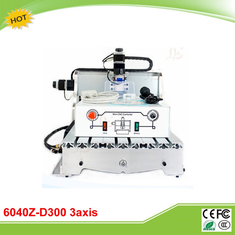 6040Z-D300 3axis mini CNC carving machine engraver ball screw 300W spindle 6040z d300 3axis mini cnc milling machine lathe ball screw 300w spindle free tax to ru