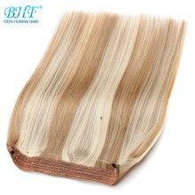 """Bhf прямые искусственные волосы одинаковой направленности европейские флип человеческие волосы все цвета 1"""" 100 г леска волосы расширение 16 дюймов 70 г"""