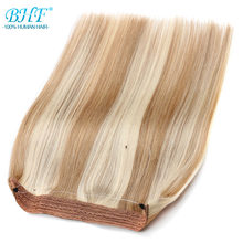 "BHF Straight Non-Remy European Flip Human Hair All colors in stock 18"" fish line hair extension 100g(China)"
