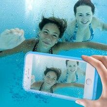 Kisscase para iphone 6 6 s caso tela tocável caso à prova d' água para iphone se 6 6 s plus ultra slim 360 tampa de proteção integral Capa(China (Mainland))