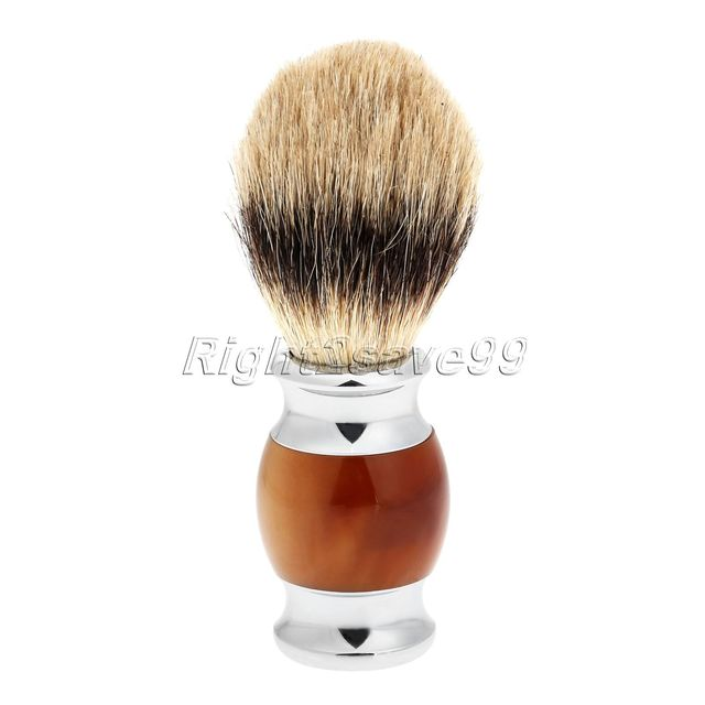 2017 High Quality Pure Badger Hair Shaving Brush Resin Handle Barber Salon Men Facial Beard Brush Pincel Shave Tool Beauty Tool