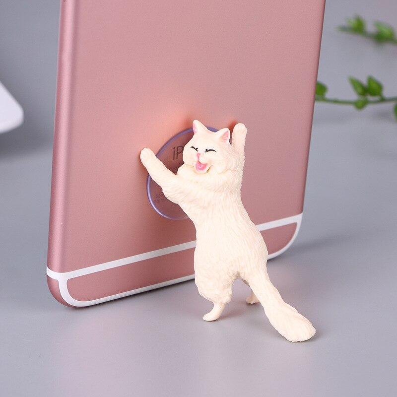 Universal Phone Holder Cute Cat Support Resin Mobile Phone Holder Stand Sucker Tablets Desk Sucker Design Smartphone Holder