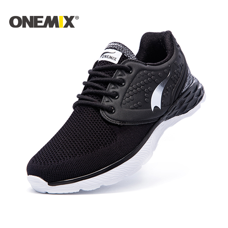 ONEMIX 2018 Pria sepatu lari athletic sport menjalankan sepatu bernapas pria pelatih pria chaussure femme zapatillas gratis pengiriman