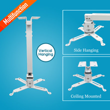 Universal Extendable Tilt LCD LED DLP Projector Ceiling Mount Bracket,  Wall bracket holder White