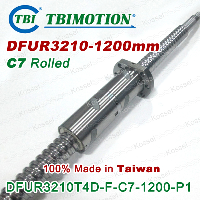 Taiwan TBI MOTION DFU3210 1200mm Rolled C7 Ball screw with DFU 3210 Ballscrew Nut горелка tbi 240 3 м esg