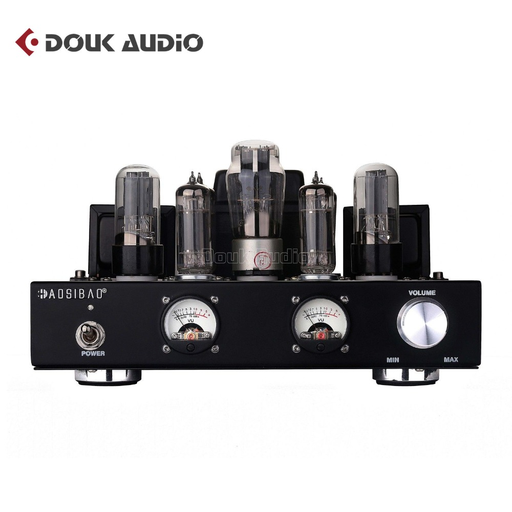Douk Audio 6P1 Vacuum&Valve Tube Stereo Amplifier Class A Single-Ended Power Amp 6.8-Watt*2 Handcrafted