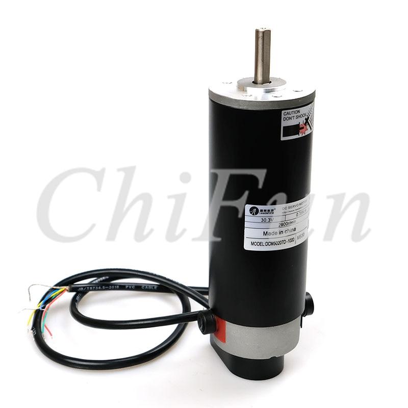 Freeshipping Leadshine 120w CNC Brush DC Servo Motor DCM50207D 1000 50oz in 0 35Nm 2900r min