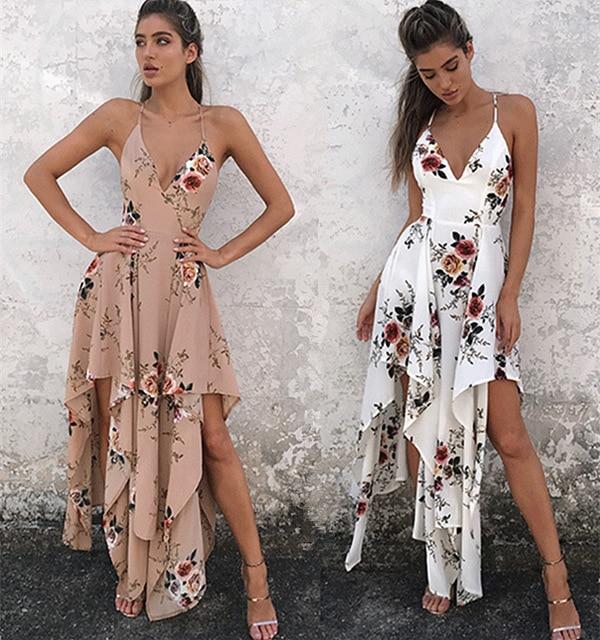 a2d0be5158a3 2017 summer dresses floral lovebird print V-neck casual dress women  Bohemian hippie chic vestidos beach dress ukraine