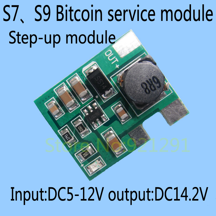5pcs/lot! DC-DC boost board power supply module input DC5-12V output DC14.2V S7 S9 Bitcoin motherbord service repair board