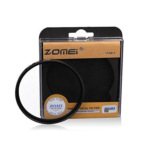 F15084 Zomei 67mm Night View Snowflake Cross Twinkle Effect Star Filters for Canon 18-135 Nikon 18-105 DSLR Camera - 6 Point FS