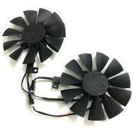 Computer VGA Gpu Cooler Graphics Card Fan T129215sm For ASUS ROG STRIX Video Cards Cooling