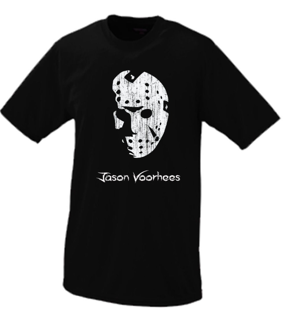 2019 Summer Men T-Shirt Hipster Cool O Neck Tops Jason Voorhees Portrait Friday 13Th Classic Horror Scary Slasher Movie T-Shirt image