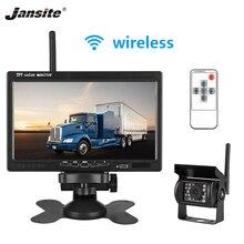 Jansite 7 «автомобильный монитор ночного видения заднего вида камера автомобиля монитор беспроводные комплекты Проводная резервная камера TFT ЖК-дисплей для грузовика, трейлера