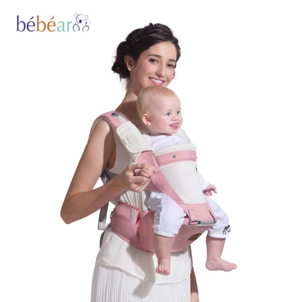 ФОТО Bebear 2017 Baby Hipseat Kangaroo Rucksack Mochila Portabebe Ergonomic Baby Carrier 360 Hip Seat Baby Sling for Newborn